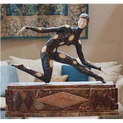 "Chiparus - ""Leotard"" -Bronze And Ivory Sculpture"