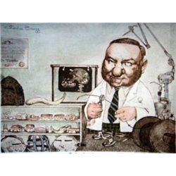 "Charles Bragg ""Orthodontist"" Hand Signed Lithograph"