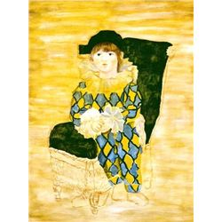 """Picasso """"Paul As A Harlequin"""""""