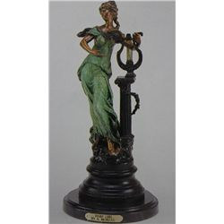 """Harp Girl"" Bronze Sculpture - A.  Moreau"