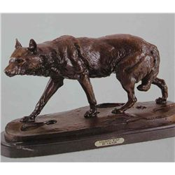"""Stalking Wolf"" Bronze Sculpture - Valton"