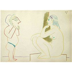 Picasso Rare Color Lithograph