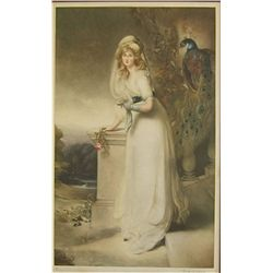 "Gainsborough Mezzotint ""Lady Spencer"""