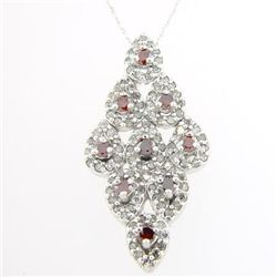 1.0 Ctw. Red & White Diamond - 10kw Gold - Pendant