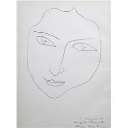 Antique Matisse Lithograph 1943