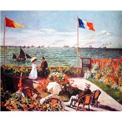 Monet  Terrace By The Seaside