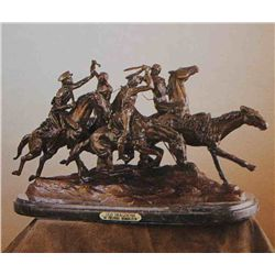 """Old Dragon"" Bronze Sculpture - Remington"