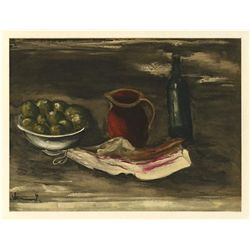 "Vlaminck ""Still Life With Bacon"" Lithograph"