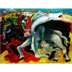 Picasso  Bull Fight,Death Of Toreador