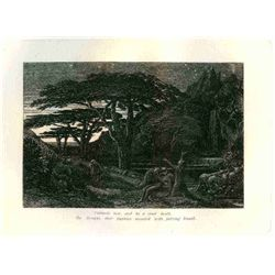 "Palmer ""The Cypress Grove"" Eclogue 5 Original Etching"