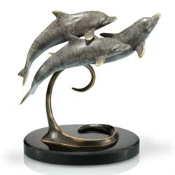 Dolphin Trio Bronze Sculpture