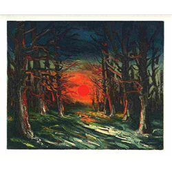 "Vlaminck ""The Forest Of Senonches"" Lithograph"