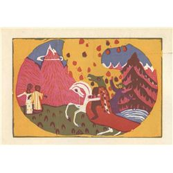 "Wassily Kandinsky Original Woodcut ""Berge"" (Mountains)"