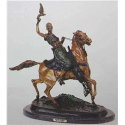 """Mounted Falconer"" Bronze Sculpture - Mene"