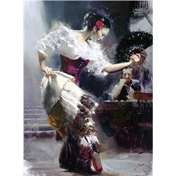 "Pino Hand Signed Giclee On Canvas ""The Dancer"""
