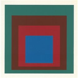 "Albers Silkscreen ""Homage To The Square"""