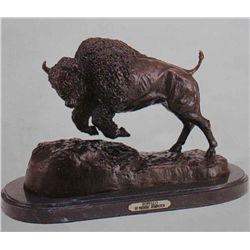 """Buffalo"" Bronze Sculpture - Remington"