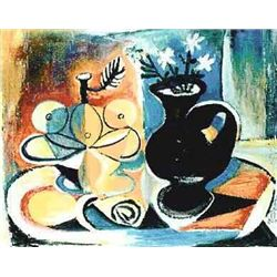 """Picasso """"Fruit With Vase Of Flowers"""""""