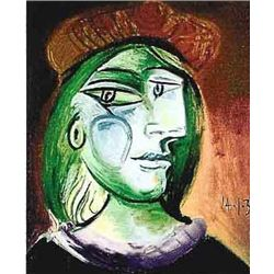 """Picasso """"Lady With Green Hair And Brown Hat"""""""