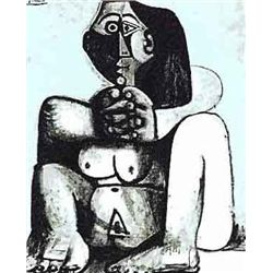 """Picasso """"Dark Haired Nude"""""""