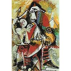"""Picasso """"Child On Man's Lap"""""""