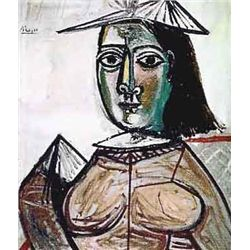 """Picasso """"Seated Lady With Fan Shaped Hat"""""""