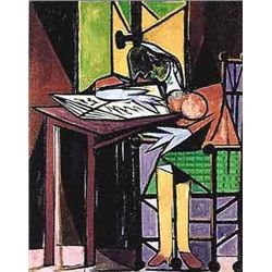 Picasso  Girl Reading At Desk