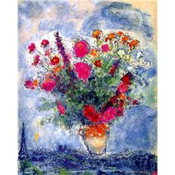 "Marc Chagall ""Bouquet Over The City"""