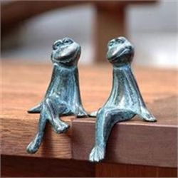 Courting Frogs Sculptures