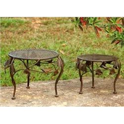 Bird Planter Stands - Set Of 2