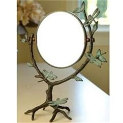 Dragonfly On Branch Table Mirror