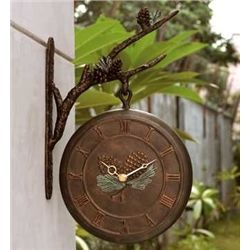 Pinecone Clock & Thermometer
