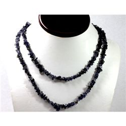 267.39 ctw Natural Iolite Un-cut bead Necklace