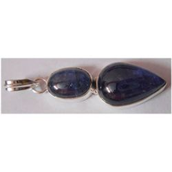 Natural 30.95 ctw Tanzanite Pendant 925 Sterling