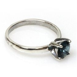 Natural 1.5ctw London Blue Topaz .925 Sterling Ring