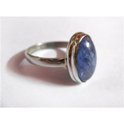 Natural 22.00 ctw Tanzanite Oval Ring .925 Sterling