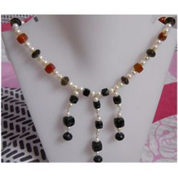 Natural 214.65ct Sapphire/Pearl/Semi Precious Necklace