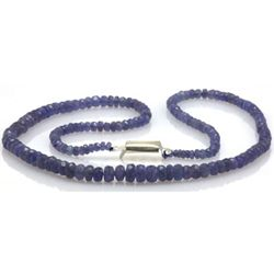 Natural AA Tanzanite Graduated Necklace 72.77 ctw