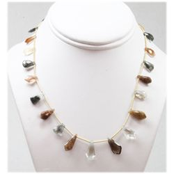 71.66 ctw Natural Chocolate  Smoke Quartz Bead Necklace