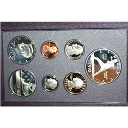 1992-S US Mint Prestige Proof Set W/Commerative Olympic Half Dollar & Commerative Olympic $1 Coin