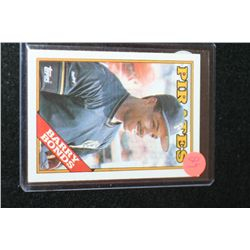 1988 MLB Topps Barry Bonds-Pittsburgh Pirates Baseball Trading Card