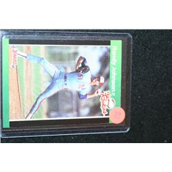 1989 MLB Leaf Randy Johnson-Montreal Expos Rookie Baseball Trading Card