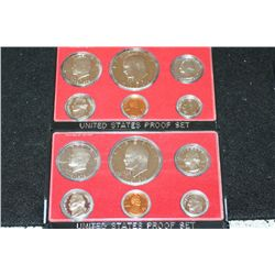 1976-S US Mint Proof Set; Lot of 2
