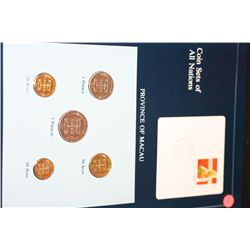 Province of Macau; Coin Sets of All Nations W/Postal Stamp Dated 1984