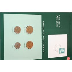 Grand Duchy of Luxembourg; Coin Sets of All Nations W/Postal Stamp Dated 1984