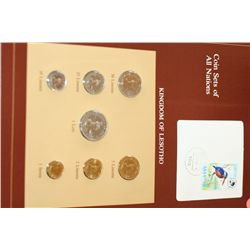 Kingdom of Lesotho; Coin Sets of All Nations W/Postal Stamp Dated 1983