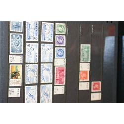 Canada Postal Stamps; Various Dates & Denominations; Lot of 18