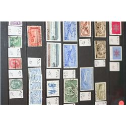 Canada Postal Stamps; Various Dates & Denominations; Lot of 22
