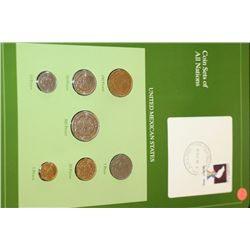 United Mexican States; Coin Sets of All Nations W/Postal Stamp Dated 1985