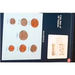 Mauritius; Coin Sets of All Nations W/Postal Stamp Dated 1986